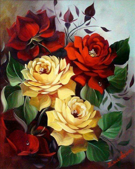 Curso De Pintura Em Tela Escudeiro Pintura Em Tela Flores