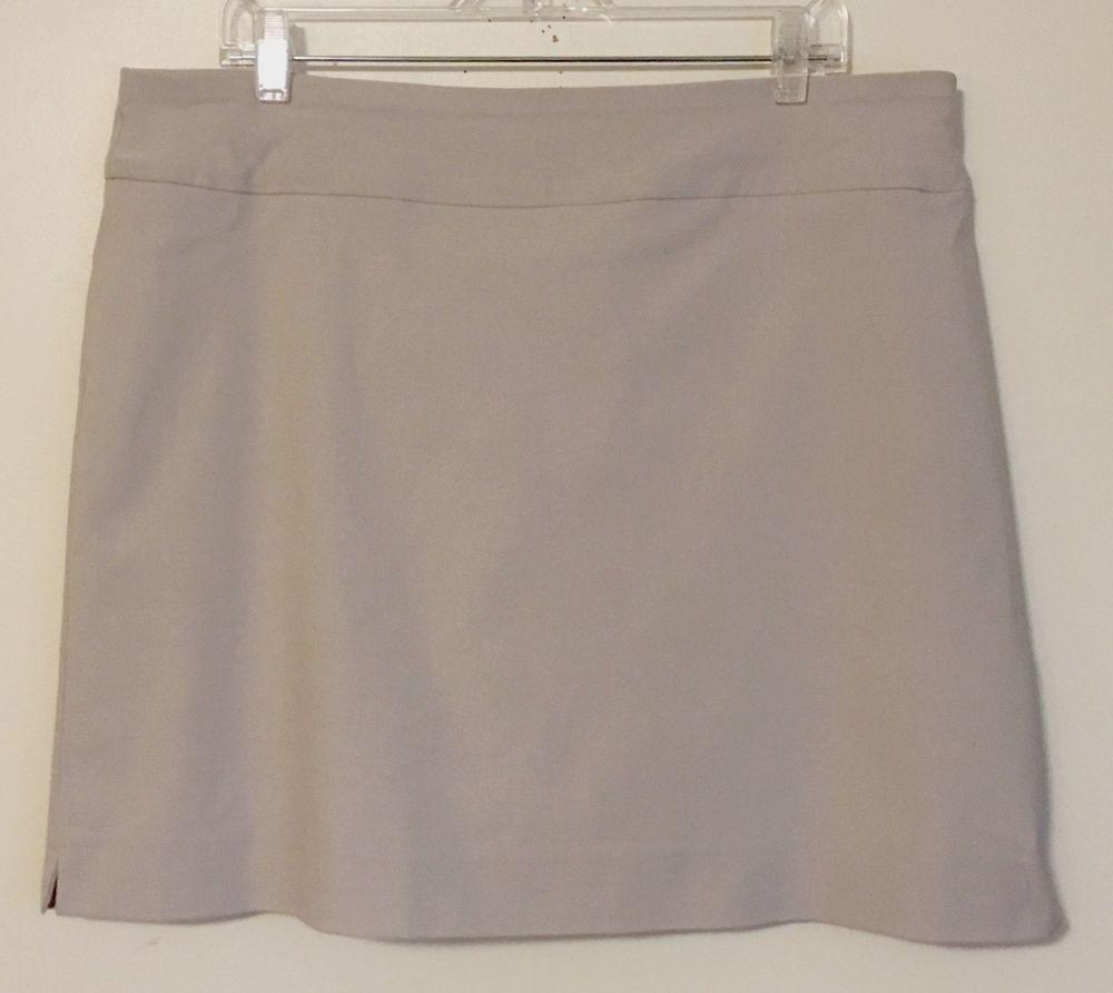 Charter Club NEW SKORT Skirt Over Shorts Tan Sand Comfort