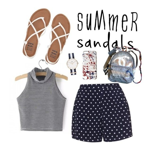 """""""Summer Sandal Style"""" by lilo163 ❤ liked on Polyvore featuring Daniel Wellington, Zizzi, Billabong, Chanel, Marc Jacobs and summersandals"""