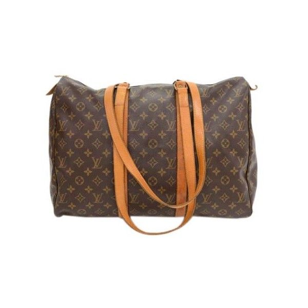 Pre-Owned Vintage Louis Vuitton Sac Flanerie 45 Monogram Canvas... (€415) ❤ liked on Polyvore featuring bags, handbags, shoulder bags, brown, shoulder bag purse, brown handbags, monogrammed handbags, polka dot purse and shoulder strap bags