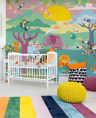Home Baby Interior Design Wallpaper Carta da parati