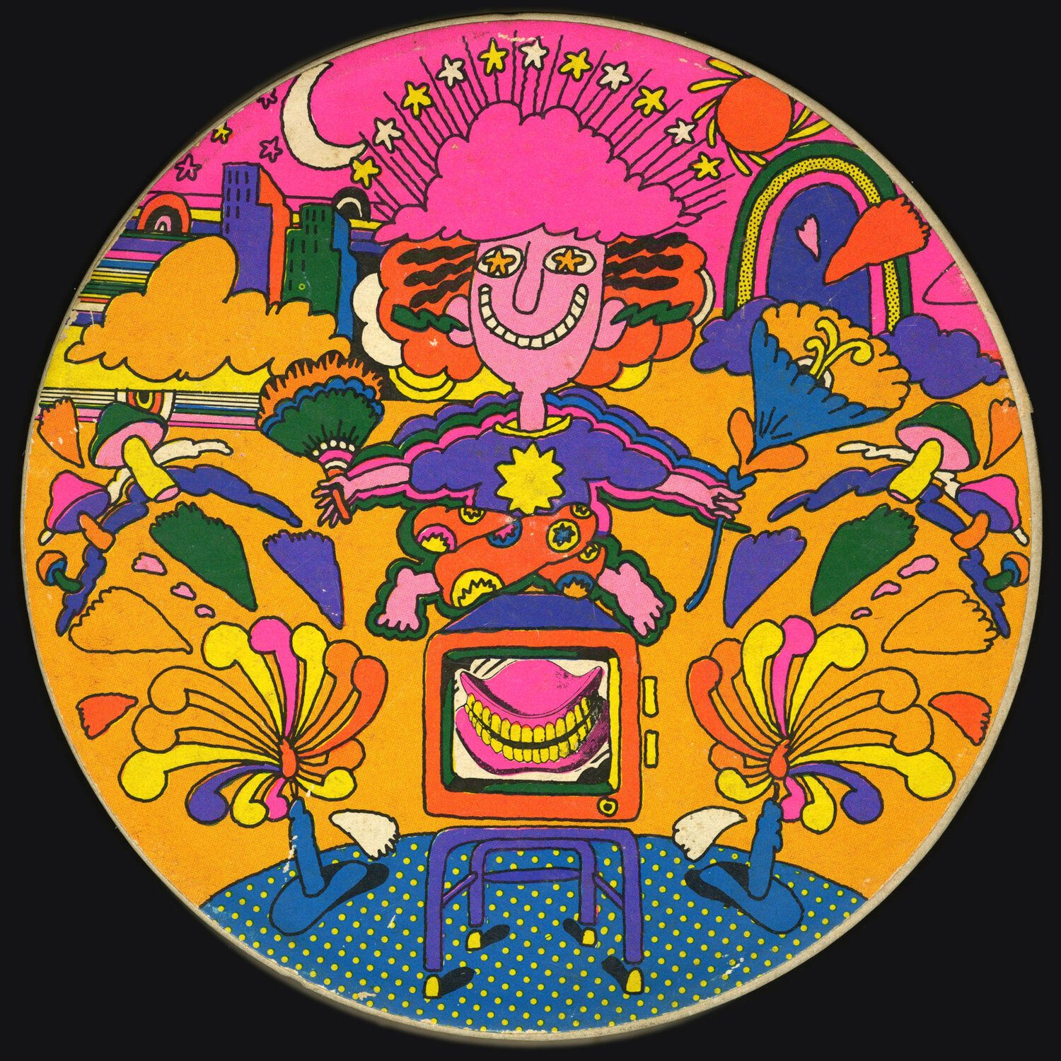 Mother Goose 2a Jpg In 2020 Psychedelic Typography Puzzle Art Psychedelic