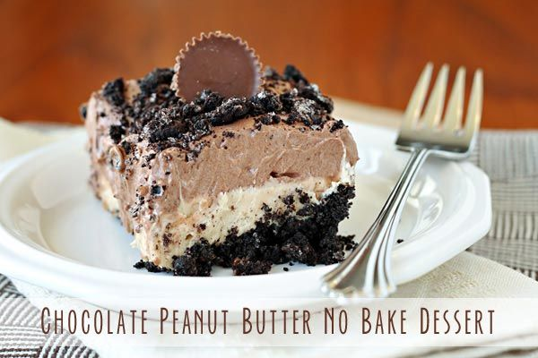 No-Bake Peanut Butter Dessert Recipe No-Bake Peanut Butter Dessert Recipe I love no bake desserts, Whats not to love about them there are quick and easy to make. This no bake chocolate peanut