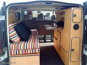 Opel Vivaro Camper 1 9 Cdti Largo 6 Plazas Fourgon Camping Car Amenagement Camping Car Amenagement Camionnette