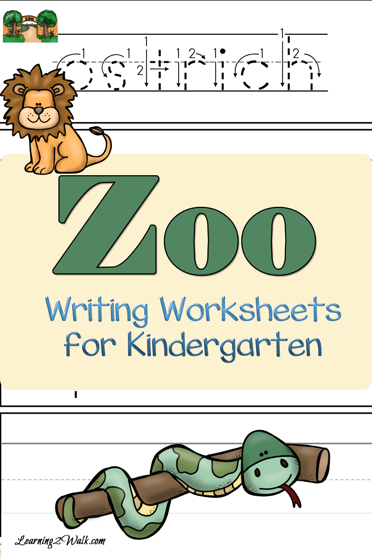 Adorable Zoo Writing Worksheets For Kindergarten To Use Now Kindergarten Worksheets Writing Worksheets Homeschool Writing [ 1500 x 1000 Pixel ]