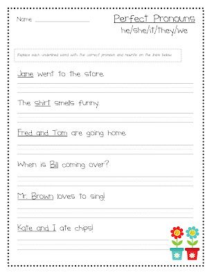 Teacher Idea Factory Power Up With Pronouns New Skills Pack Pronoun Worksheets 2nd Grade Worksheets Grammar Worksheets Pronoun worksheets for 2nd graders