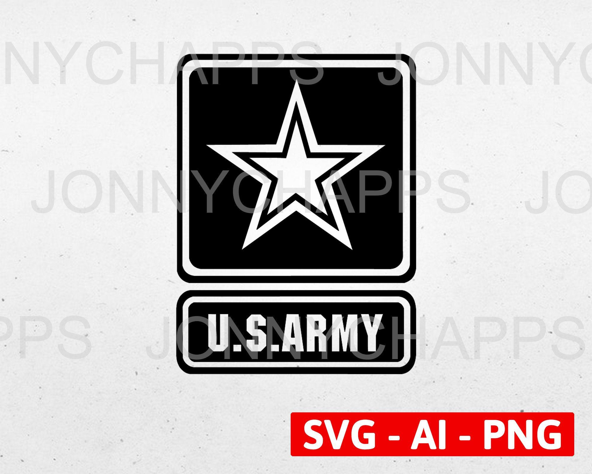 Us Army Logo Star Army Seal Insignia Digital Vector Ai Etsy Us Army Logo Us Army Digital