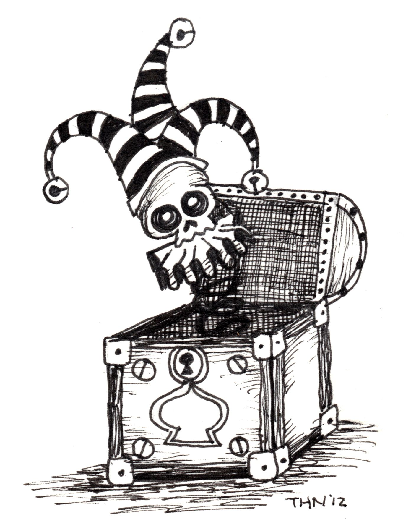 Jack In The Box Skull Jester