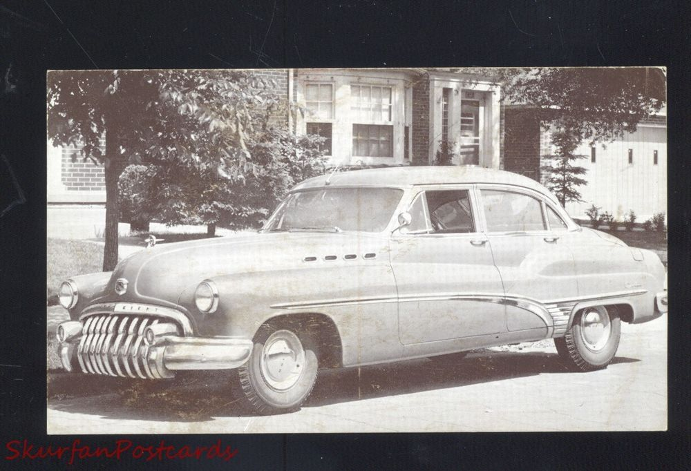 1950 BUICK ROADMASTER VINTAGE CAR DEALER ADVERTISING POSTCARD OLD ...