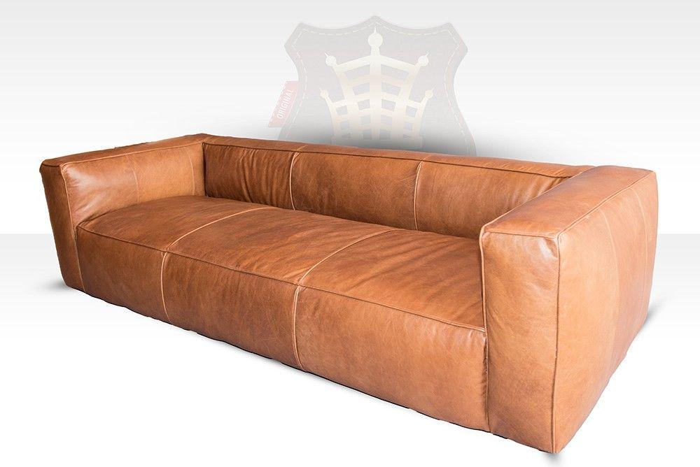Lounge Sofa Tribeca 3 Sitzer Leder Old Sattle Nut Halo Est 1976