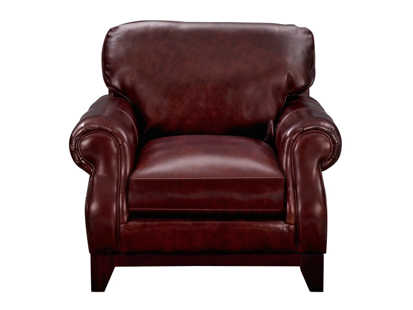 Genial Carlton Burgundy Leather Chair   American Signature Furniture