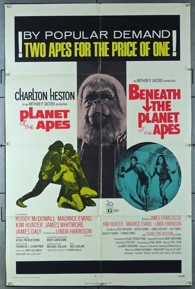 Planet Of The Apes 1968 3151 Planet Of The Apes Movie Posters Movie Poster Art