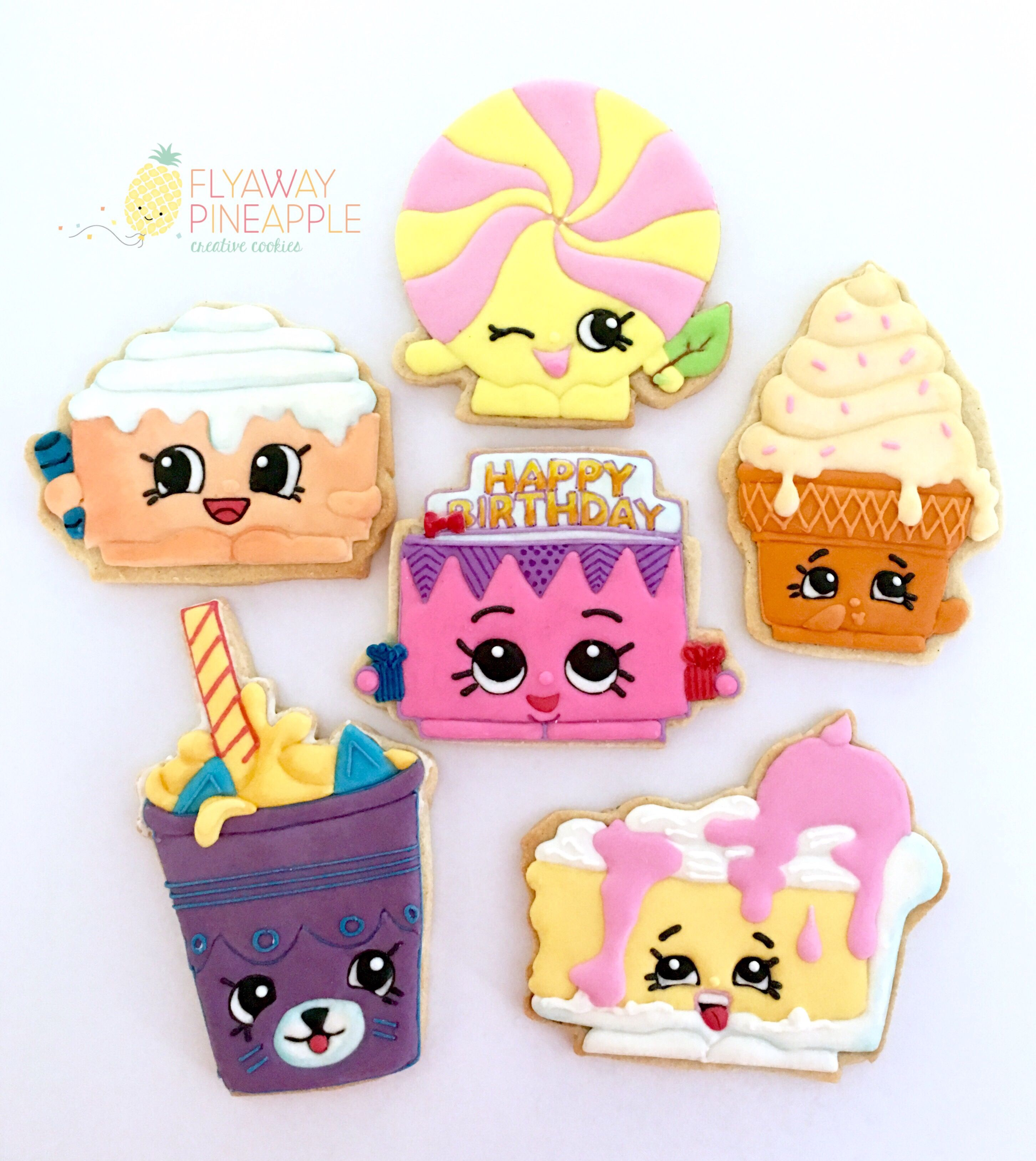 Shopkins Cookies, Shopkins Party, Shopkins Biscuits