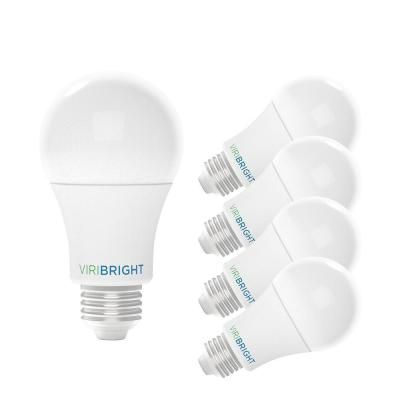 Viribright 60 Watt Equivalent 2700k A19 E26 Base Led Light Bulbs