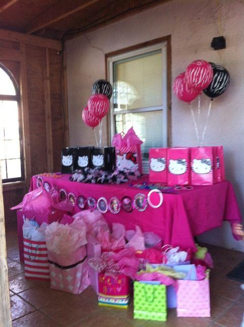 Hello Kitty zebra 1st Birthday birthday party Party Ideas Hello