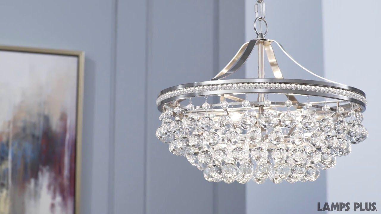Wohlfurst 20 1 4 Wide Brushed Nickel Crystal Pendant Light