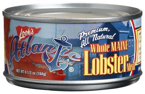 Atlantic Maine Whole Lobster Meat  6.5-Ounce Cans: http://www.amazon.com/Atlantic-Maine-Whole-Lobster-6-5-Ounce/dp/B000V1AWB0/?tag=koraimultimed-20