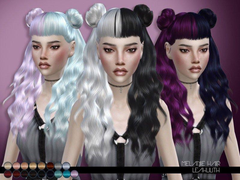 Leahlillith Melanie Hair The Sims 4 Catalog Sims Hair Sims 4 Anime Sims 4