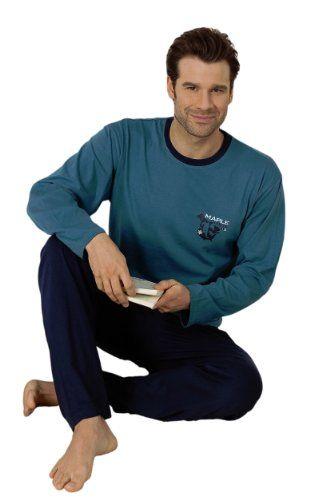 reputable site 10d9d 0179c Moonline Herren-Pyjama Schlafanzug Hausanzug Heine mit Motiv ...