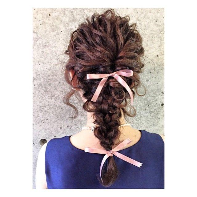 一目惚れ♡美容師のマリさんの、リボンやお花を使ったお呼ばれヘアが可愛い!