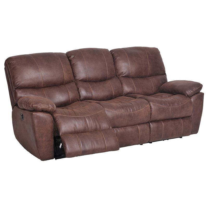 Flexsteel Sofa Reclining SOFA Slipcover Ribbed Texture Chocolate Adapted for Dual Recliner Couch