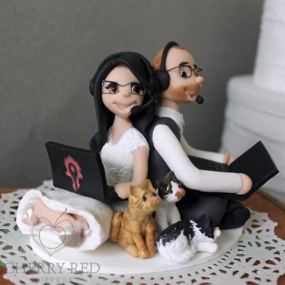 wow wedding cake topper