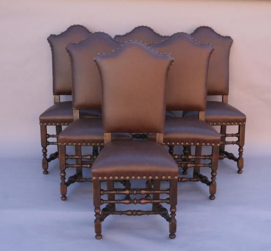 5084 Set Of Six 1920 S Dining Chairs Seating Spanish Revival Mediterranean And European Antiques At Revival Dining Chairs Spanish Revival European Antiques