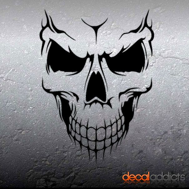 Skull Decals For Cars Laptop Tablet Toolbox Locker Etc See - Vinyl decals for cars uk