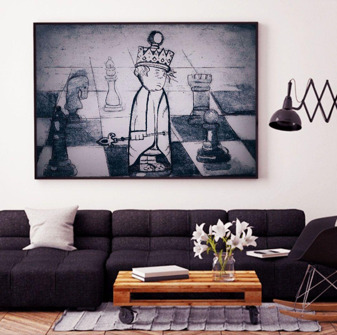 لوحة الشطرنج Lemon Art Lemon Art Art Home Decor