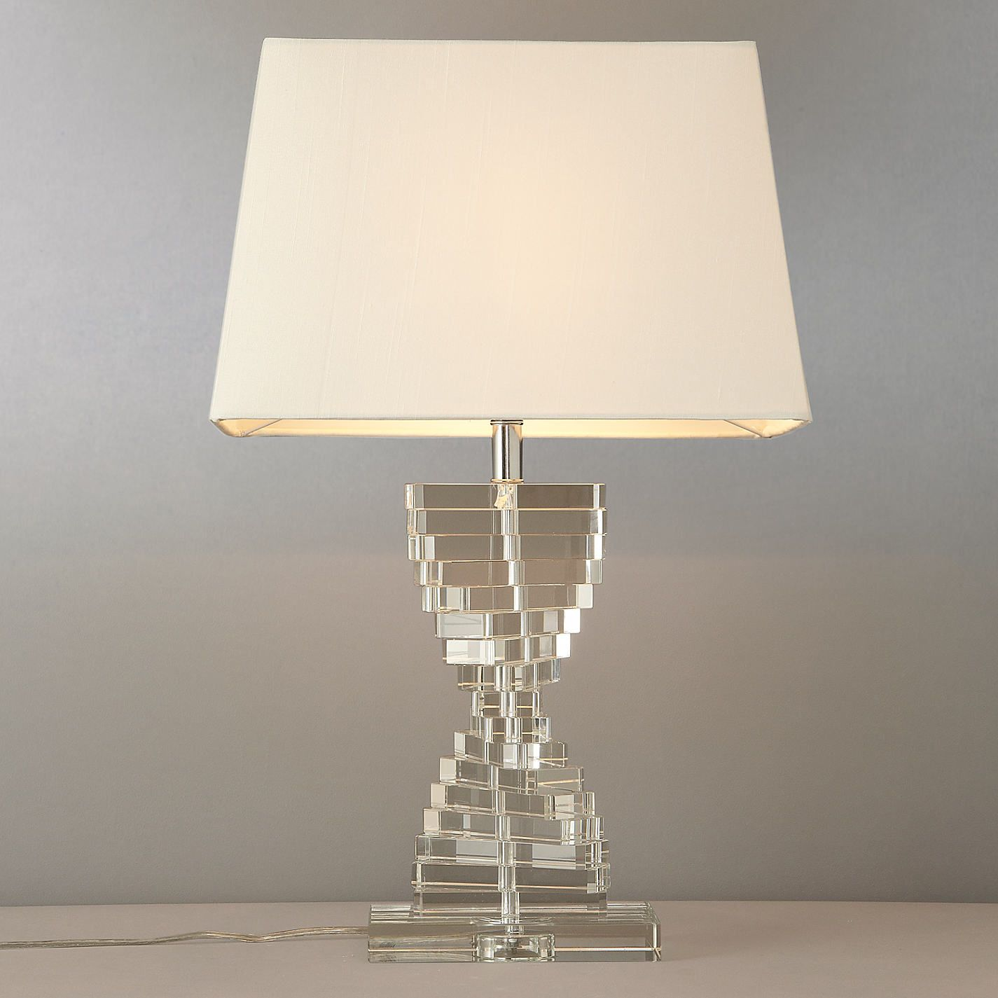 Diana glass steps table lamp john lewis diana and ranges buy john lewis diana glass steps table lamp from our view all table lamps range at mozeypictures Image collections