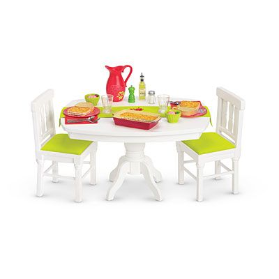 American GirlR Furniture Dinner Table Accessories