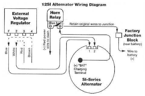 91 f350 7 3 alternator wiring diagram regulator alternator rh pinterest com Alternator Fuse Holder 100 Amp Alternator Fuse
