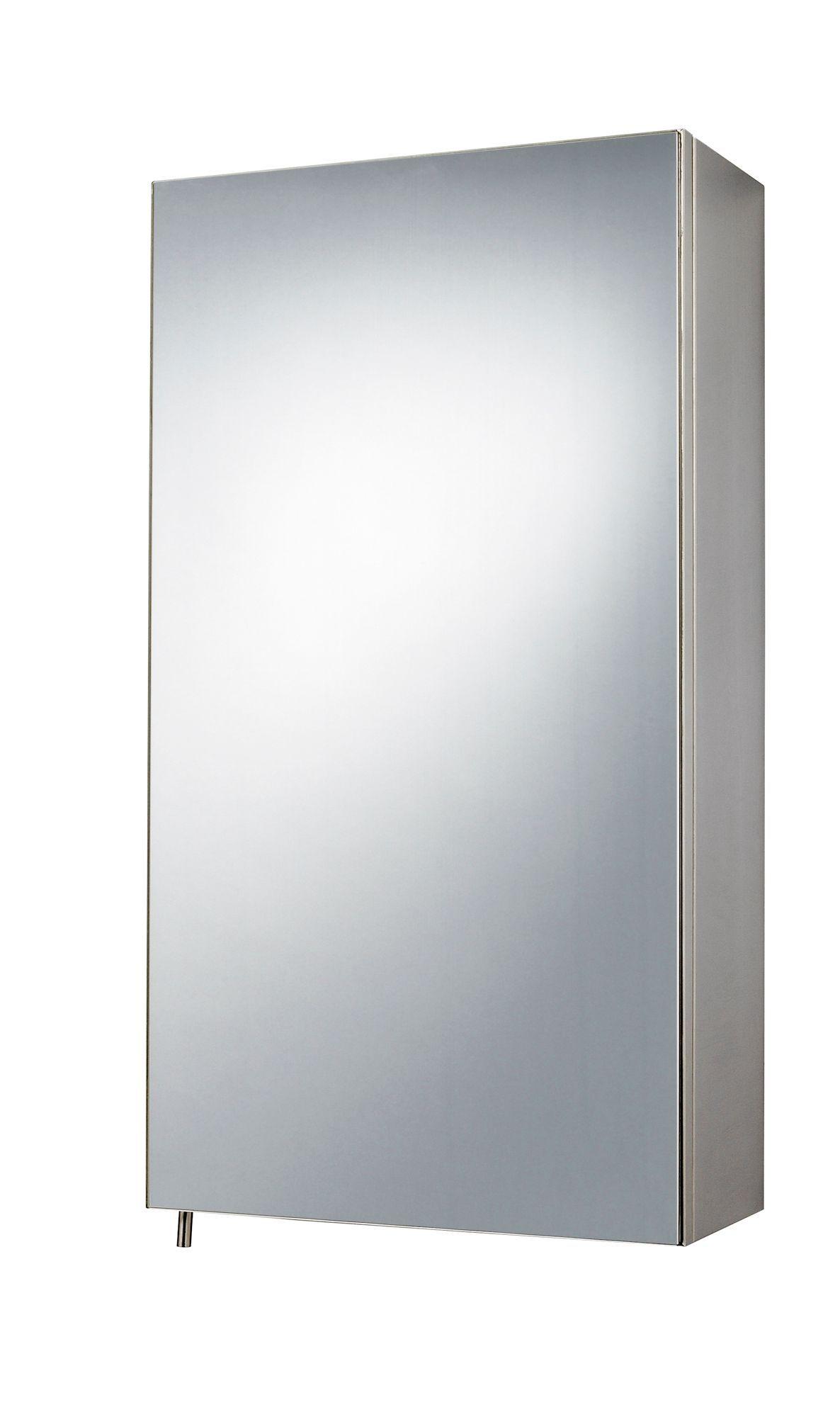 B&Q Fonteno Single Door Silver Mirror Cabinet | Mirror cabinets ...