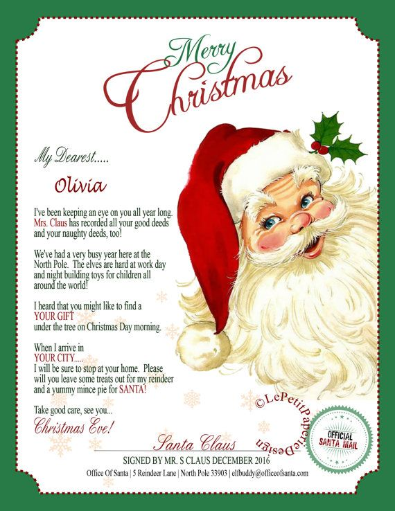 Letter From Santa Editable Template Instant Download Etsy In 2021 Christmas Lettering Christmas Letter Template Christmas Letter Template Free