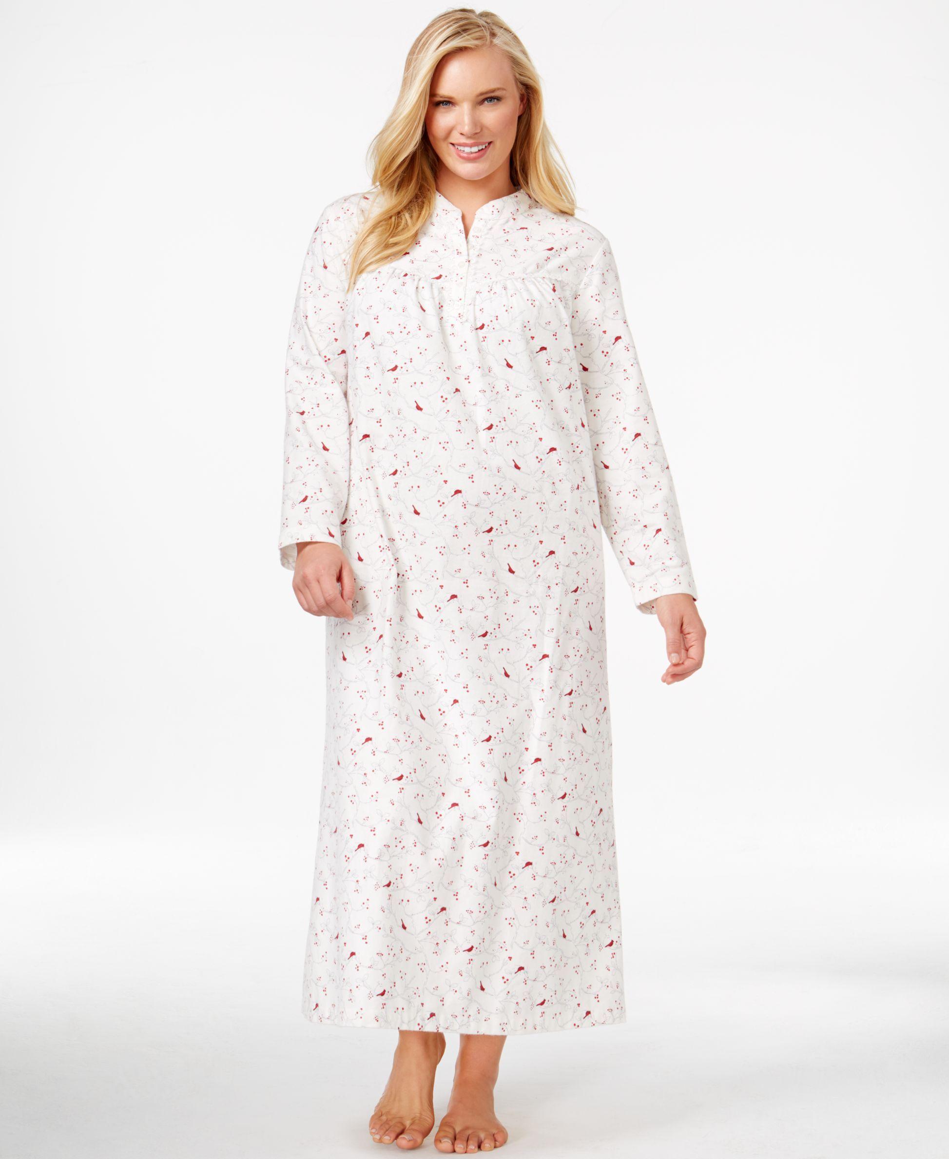 83718ffdaa3 Charter Club Plus Size Long Flannel Nightgown