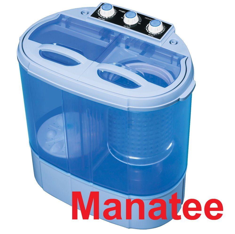 Manatee Portable Mini Small Compact Washing Machine Washer Spin Dryer 3.6  #manatee36knspindry