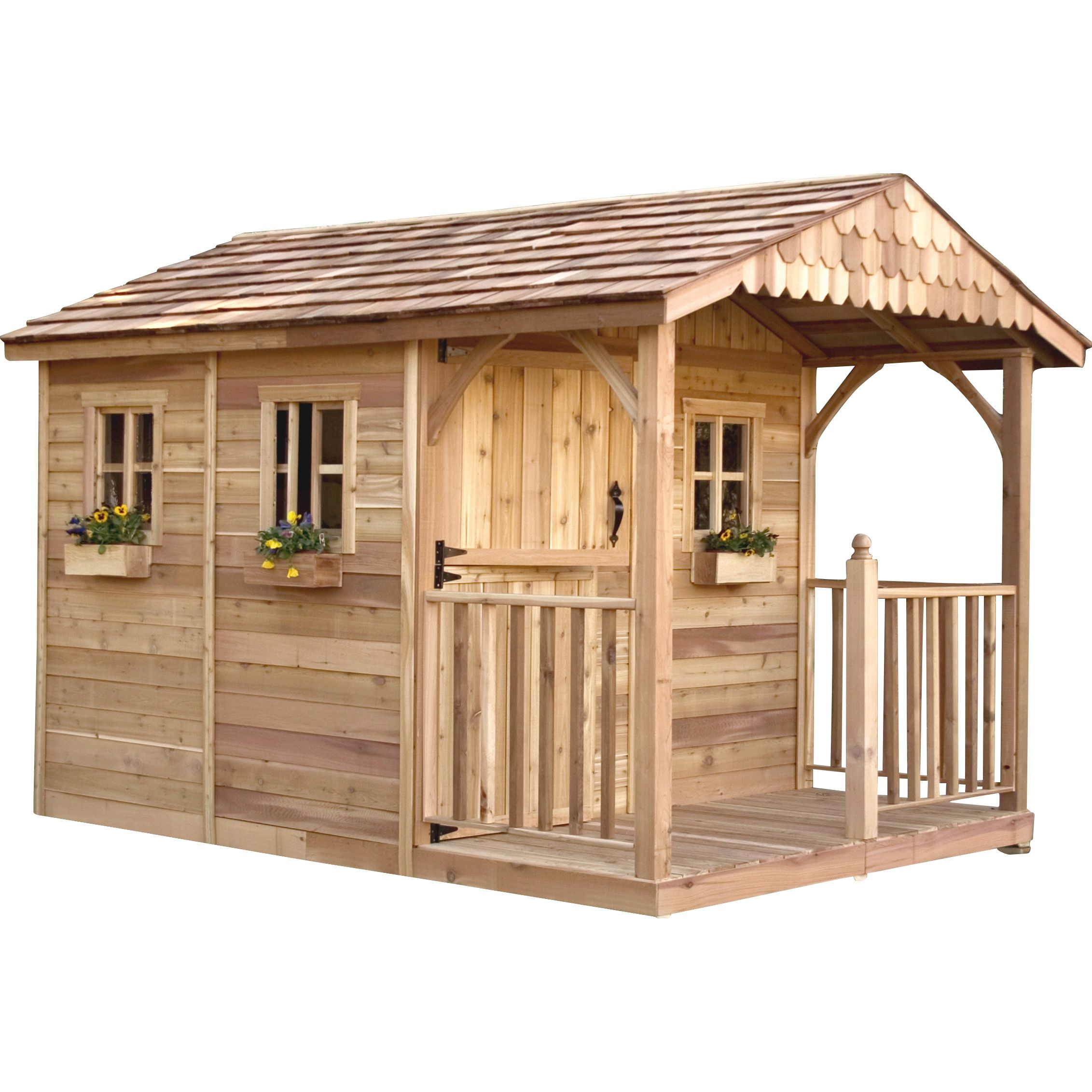 outdoor living today santa rosa 8 ft w x 12 ft d wood storage