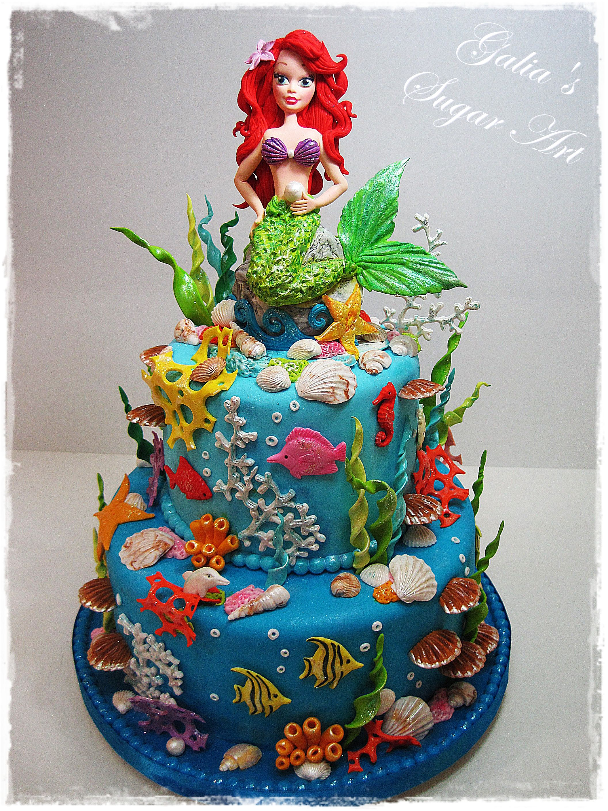 Ariel Birthday Cake I Think This Is The Most Realistic