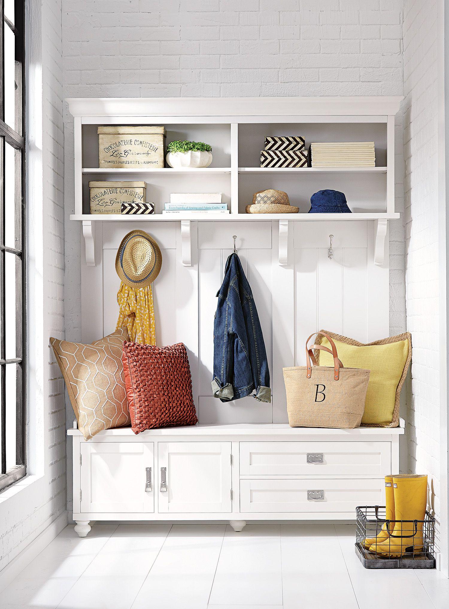 No Coat Closet No Problem A Hall Tree Will Help Storeeverything Storage