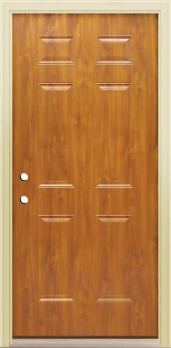 Mastercraft 36 X 80 Steel Light Oak 6 Panel Ext Door Rh At Menards Prehung Exterior Door Steel Lighting Light Oak