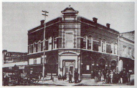 First National Bank on Main Street in 1900's Wynnewood