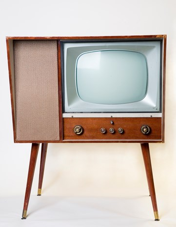 Homemade Black And White Tv Tv50 Anniversary Of Television In Australia Culture Victoria In 2020 Vintage Television White Tv Midcentury Modern