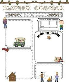 camping theme newsletter template the kids pinterest camping