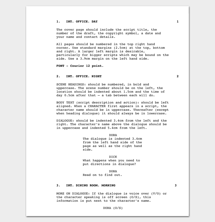 Short Film Outline Example  Outline Templates  Create A Perfect