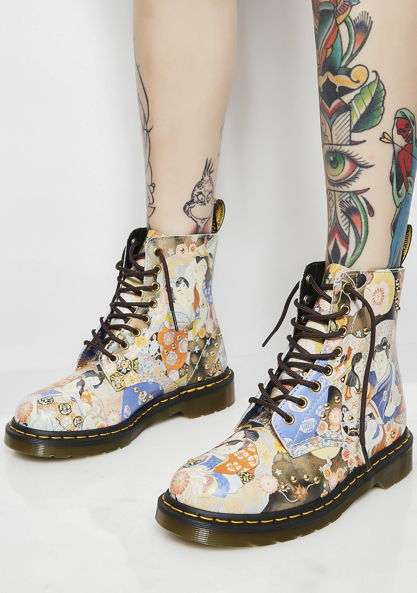 a361be1717 Dr. Martens Pascal Eastern Art Boots | Dolls Kill #dollskill #drmartens  #combatboots #zipup