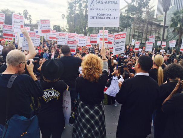 SAG-AFTRA Video Game Strike Rally Draws 400-Plus In L.A.