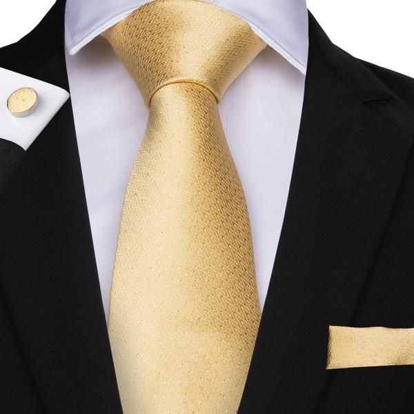New men/'s polyester solid yellow hankie pocket square formal wedding party prom