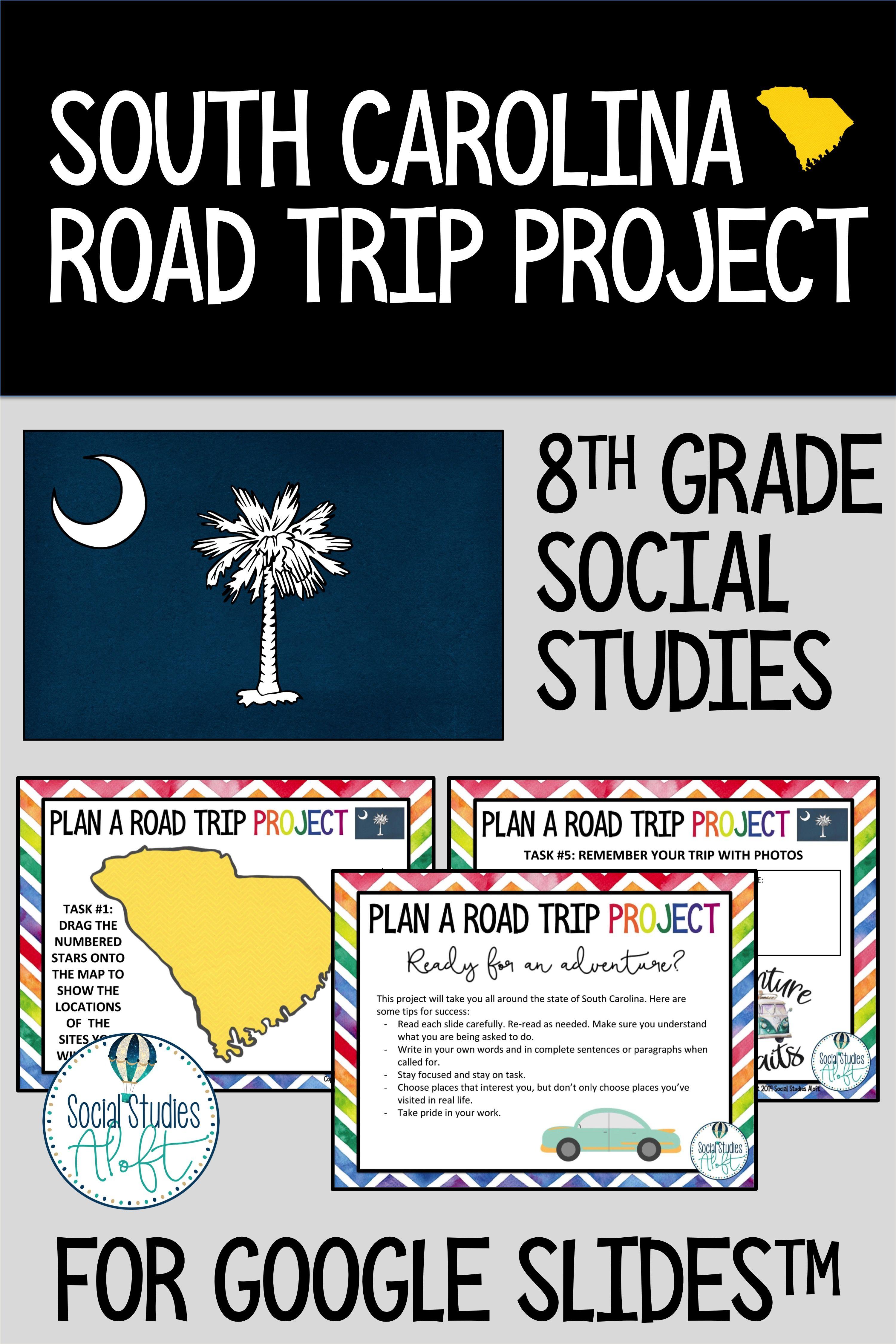 South Carolina Road Trip Project For 8th Grade