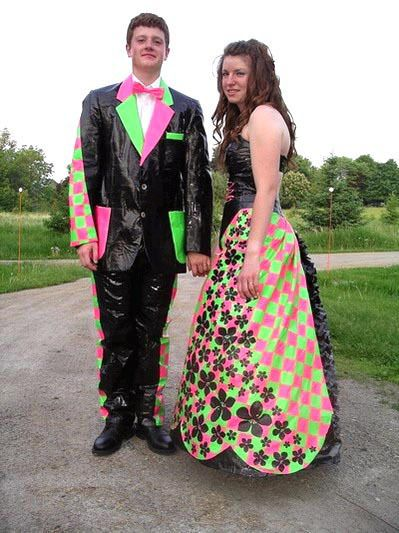 worst prom photos: One final duct tape prom dress | Mad hatter tea ...