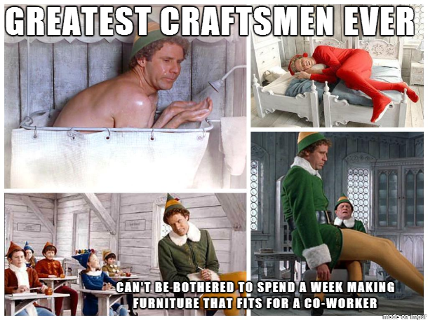 Scumbag Santa's Helpers Buddy the elf meme, Buddy the